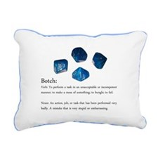 D10 Botch Rectangular Canvas Pillow