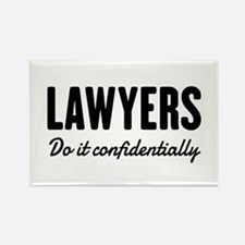 Lawyers do it confidentially Magnets