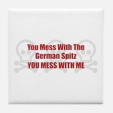 Mess With Spitz Tile Coaster