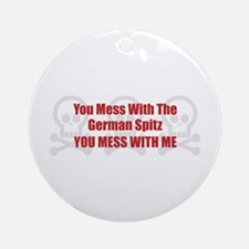 Mess With Spitz Ornament (Round)