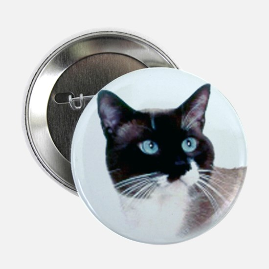 "Snowshoe Cat 2.25"" Button"
