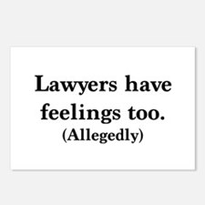Lawyers have feelings too Postcards (Package of 8)
