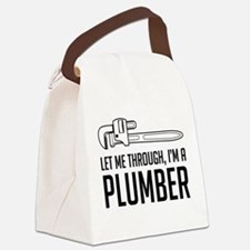 Let me through I'm a plumber Canvas Lunch Bag