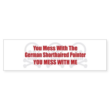 Mess With Pointer Bumper Sticker