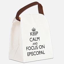 Cute Episcopal Canvas Lunch Bag
