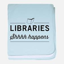 Libraries shhhh happens baby blanket