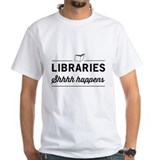 Librarian Mens White T-shirts