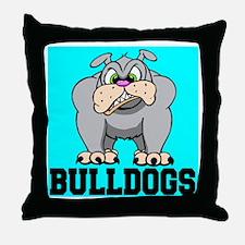 Bulldogs Throw Pillow