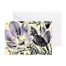 Pastel tulip sketch Greeting Cards