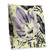 Pastel tulip sketch Burlap Throw Pillow
