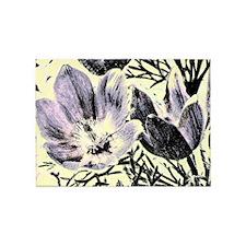 Pastel tulip sketch 5'x7'Area Rug