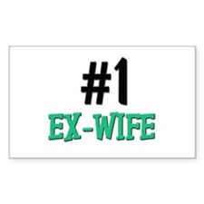 Number 1 EX-WIFE Rectangle Decal