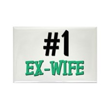 Number 1 EX-WIFE Rectangle Magnet