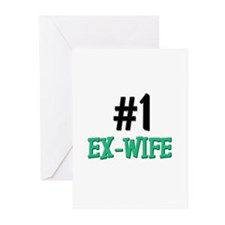 Number 1 EX-WIFE Greeting Cards (Pk of 10)