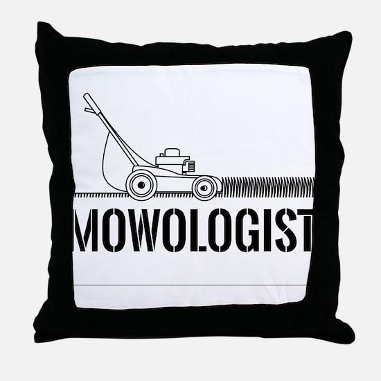 Mowologist Throw Pillow