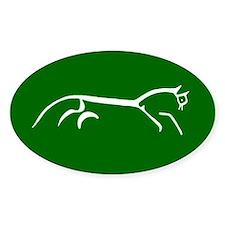 uffington white horse - Oval Stickers