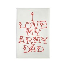 My Army Dad Rectangle Magnet