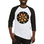 Colorful Sun Mandala Baseball Jersey