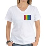 I'm Not Gay I Just Like Rainbows Women's V-Neck T