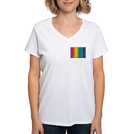 I'm Not Gay I Just Like Rainbows Women's V-Neck T
