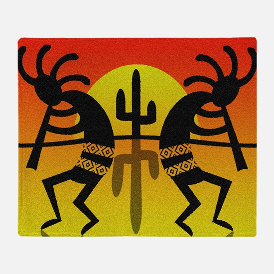 Cool Kokopelli Throw Blanket