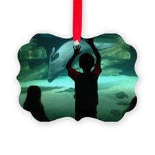 Dolphin Looking Glass Ornament