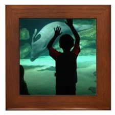 Dolphin Looking Glass Framed Tile