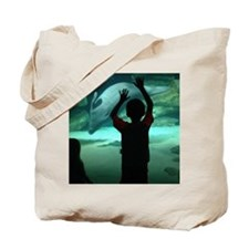 Dolphin Looking Glass Tote Bag