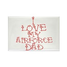 My Airforce Dad Rectangle Magnet