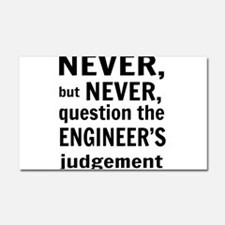 Never but never engineer Car Magnet 20 x 12