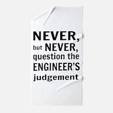 Never but never engineer Beach Towel