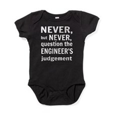 Never but never engineer Baby Bodysuit