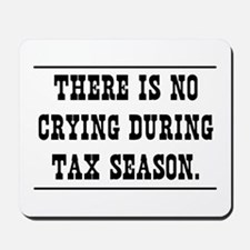 No crying during tax season Mousepad