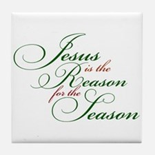Funny Jesus is the reason Tile Coaster