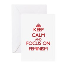 Keep Calm and focus on Feminism Greeting Cards