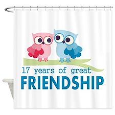 17th Anniversary Hoot Shower Curtain