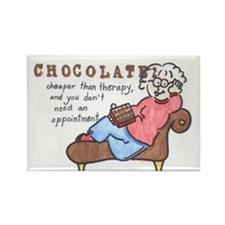Cute Chocolate therapy Rectangle Magnet