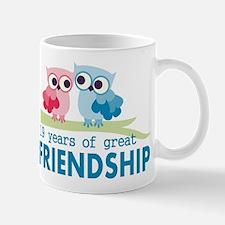 19th Anniversary Owl Wedding Anniversar Mug