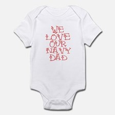 Our Navy Dad Infant Bodysuit