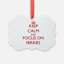 Cute Ferries Ornament