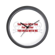 Mess With Foxy Wall Clock