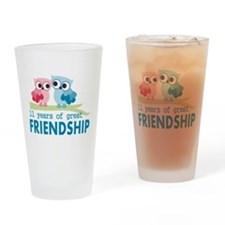 11th Anniversary Gifts for Them Drinking Glass