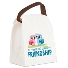 11th Anniversary Gifts for Them Canvas Lunch Bag