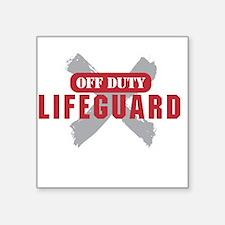 Off duty lifeguard Sticker