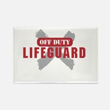 Off duty lifeguard Magnets