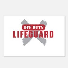Off duty lifeguard Postcards (Package of 8)