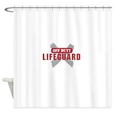 Off duty lifeguard Shower Curtain