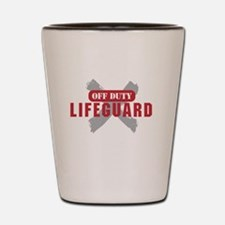 Off duty lifeguard Shot Glass