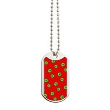 Red Green Doctor Abstract Designer Dog Tags