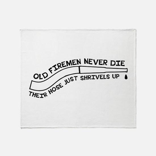 Old firemen never die Throw Blanket